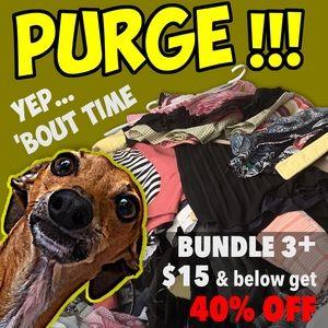 Bundle 3+ items $15/under & I'll offer 40%…